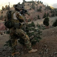 Air Force Pararescue in the mountains of Afghanistan.