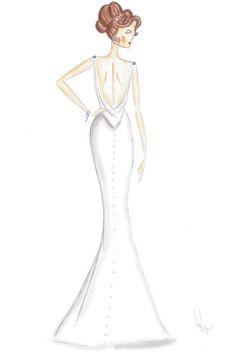 Fashion sketched by Michelle Paris