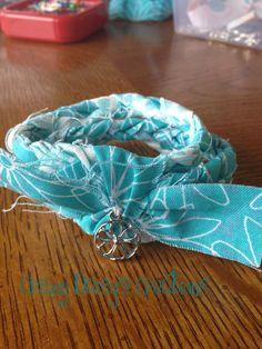 triple braided fabric bracelet