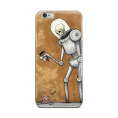 """Plop"" - Robot Art iPhone Case"