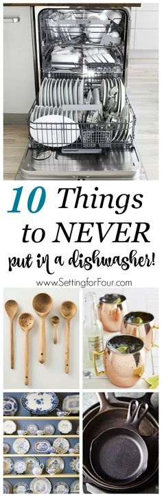 need-to-know cleaning tips: the 10 things you should never put in a dishwasher