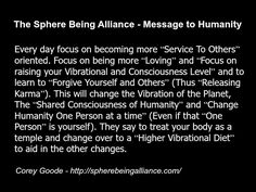 Corey Goode - quote - sphere being alliance spirituality vibration metaphysics - cosmic disclosure - extraterrestrials