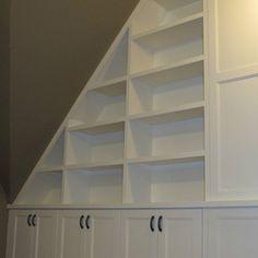 kneewall shelves