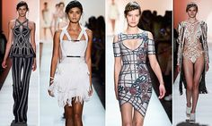 Hervé Léger celebrates its 30th anniversary at New York Fashion Week | Daily Mail Online