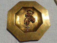 Religious Plate Communion Wafer Dish/Tray Heavy by LadyDeParis, $120.00