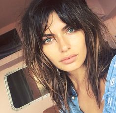 Alyssa Miller. Short hair. fringe. Messy bob