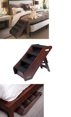 ramps and stairs 116389: pet step stairs 4 suede dog cat brown