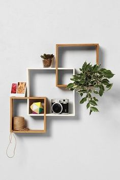 Bamboo Step Wall Shelf