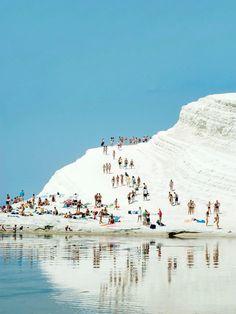 Scala dei Turchi, a rocky cliff on the coast of Realmonte, Sicily