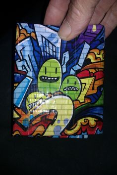 graffiti duck tape wallet