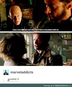 Wolverine is patient with young xavier. Marvel Comics, Marvel Jokes, Marvel Funny, Marvel Heroes, Ms Marvel, Captain Marvel, Days Of Future Past, X Men Funny, Avengers