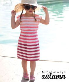 Taking your girl to the pool can end up being a very big and disorganized adventure. Changing in and out of suits in a busy pool bathroom or beach restroom is just too much hassle. Avoid that switcheroo by making your little lady this insanely easy DIY Swim Coverup Pattern.