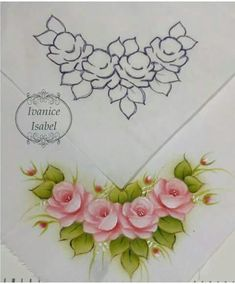 Diy Embroidery, Embroidery Patterns, Fabric Paint Designs, Tole Painting Patterns, One Stroke Painting, Flower Coloring Pages, China Painting, Stained Glass Patterns, Elements Of Art