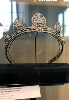 a close up of Elizabeth, Countess of Leicester's Chaumet tiara