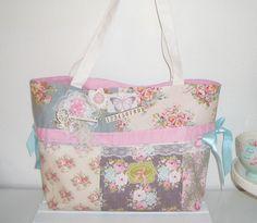 ♥ Estrellas Bag   Patch   Shopper Tasche aus Tilda® Stoff handmade NEU *~