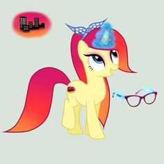 Sunset Scarlet. This pony loves to travel to the most popular cities. | adopted by Rana Rule