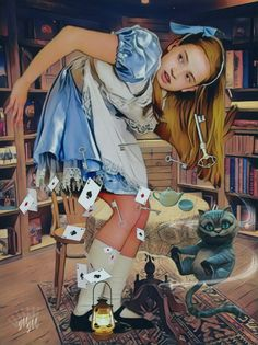 Alice in Wonderland Alice In Wonderland Decorations, Alice In Wonderland Tea Party, Lewis Carroll, Kelsey Beckett, Adventures By Disney, Red Sonja, Fairytale Art, Through The Looking Glass, Disney Dream