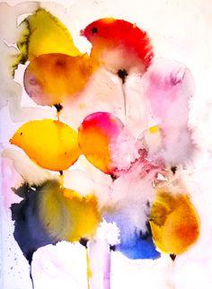 """Birds - Saatchi Online Artist Karin Johannesson; Painting, """"Birds"""" #art"""