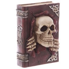 Skull Book Decoration