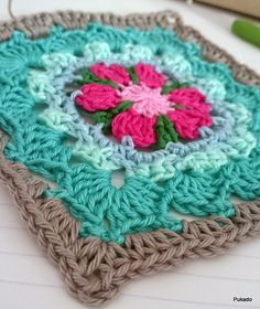 Pukado By Patricia Stuart: Crochet Mood Blanket 2014 - October Square - Free Pattern
