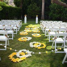 Ceremony Decor Idea - Design the Aisle with Petals By Wedding Ideas
