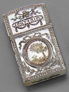 A Louis XVI silver, mother of pearl and collage carnet de bal - by Bonhams