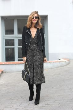 gold dotted dress looks - Lady Addict