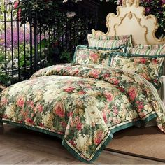 """HOT PRICES FROM ALI - Buy """"Green blue floral jacquard Luxury cotton bedding sets queen king size linen bed cover duvet cover bed sheet set Pillowcases"""" for only USD. Best Bedding Sets, Queen Bedding Sets, Luxury Bedding Sets, Queen Duvet, King Comforter, Comforter Sets, Best Duvet Covers, Duvet Cover Sets, Cama Floral"""