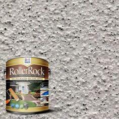 Royal Pearl Decorative Flat Interior/Exterior Concrete Floor Coating - 65005 - The Home Depot Concrete Floor Coatings, Concrete Resurfacing, Concrete Bricks, Concrete Floors, Concrete Steps, Stained Concrete Porch, Painting Concrete Walls, Stencil Concrete, Painted Floors