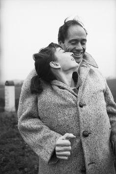 Lovely Hepburn and husband