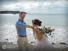 Stephanie Amber Portfolio: Photography Blog #wedding #beach #pinkdress #flowercrown