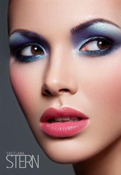 Beauty — Svetlana Stern | Editorial Makeup | Lips #eyeshadows  Love the lip color - a little less blue on the eyes....
