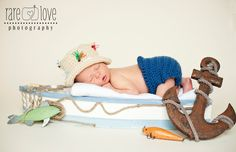 newborn fishing hat | Crocheted Fishing Hat & Diaper Cover by ChippersCreations on Etsy