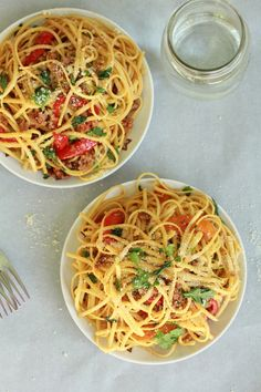Half Baked Harvest: Red Pepper Garlic Chicken Sausage Pasta