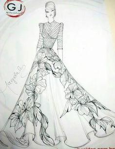 Dress Illustration, Fashion Illustration Sketches, Fashion Sketches, Fashion Design Sketchbook, Fashion Design Drawings, Model Sketch, Fashion Vocabulary, Fashion Figures, Dress Sketches
