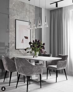 Modern Dining Tables brings you luxury dining room designs by the interior designer Elizabeth Metcalfe. Luxury Dining Room, Dining Room Design, Dining Room Chairs, Kitchen Chairs, Room Interior, Home Interior Design, Interior Designing, Modern Dining Table, Dinning Table