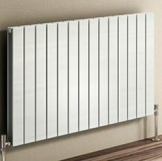 Reina Flat Horizontal Steel Radiator - White