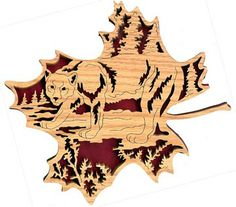 scroll saw pattern of gingerbread men | FL132 - Forest Leaf Mountain Lion Pattern