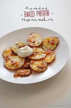 LOADED BAKED POTATO ROUNDS {Butter, with a side of Bread // Easy family recipes and reviews}  super easy.. super yummy!!