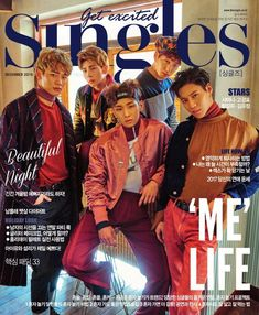 SHINee are more radiant and charming than ever as cover models for 'Singles' | allkpop.com