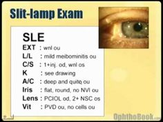 "Module 8. Examination and History of Eye. ""Watching this video will help you understand reports and exam notes from the eye doctors."" ~Dr. Wittman"