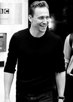 Tom Hiddleston outside the BBC Studios in London on October 1, 2015