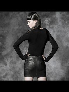 4f402a43bdd Punk style qualitied black-white PU short sexy wrap skirt from PUNKRAVE. Punk  RaveGothic DressPunk ...