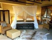 Accommodations in a private game reserve