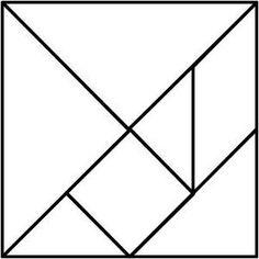 basis voor het maken van een tangram
