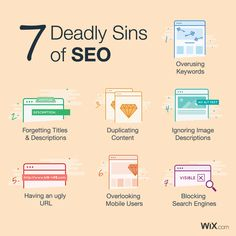 The 7 Deadly Sins of SEO