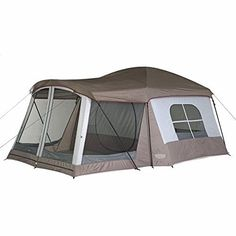 Wenzel Klondike Large Family Camping Cabin Tent - Sleeps 8 Person Screened Porch #Wenzel