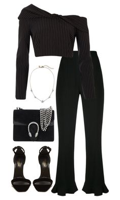 """""""Untitled #5492"""" by theeuropeancloset on Polyvore featuring Altuzarra, River Island, Yves Saint Laurent and Gucci"""