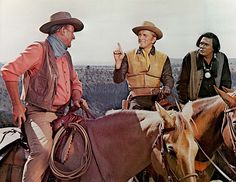 John Wayne, Kirk Douglas & Howard Keel in The War Wagon (1967) - (JW) http://dunway.com/