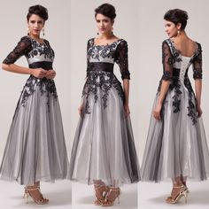 Vintage 1950s Style LACE Mother of the Bride Party Evening Prom ROCKABILLY Dress #GraceKarin #BallGown #Cocktail